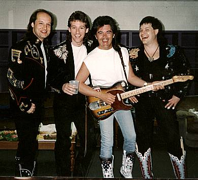 Junior with Marty Stuart, Larry Marrs and Brad Davis